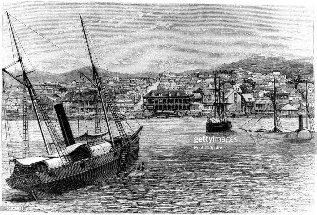 Port-au-Prince, Haiti, 1873. : News Photo