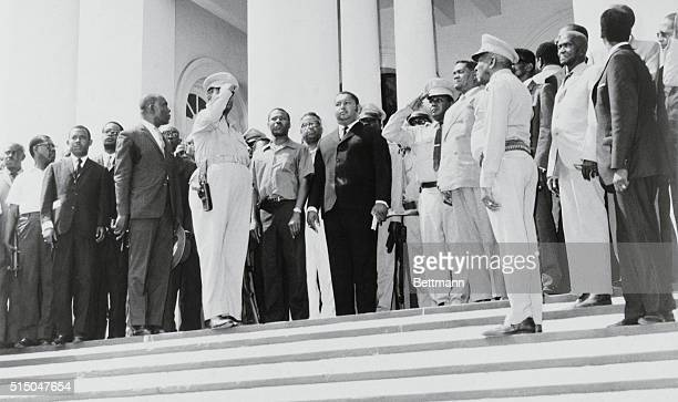 JeanClaude Duvalier is sworn in as president of Haiti a few hours after the announcement of the death of his father Francois Duvalier At Duvalier's...