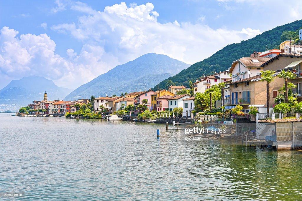 Porte Ceresio village : Stock Photo