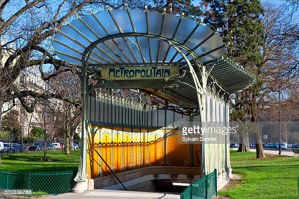 porte dauphine metro station - art nouveau stock pictures, royalty-free photos & images