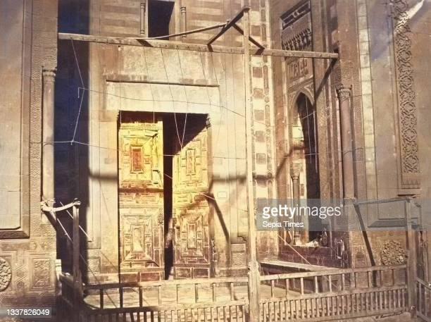 Porte de la Mosque, Sultan Hassan. Partie Inferieure, circa 1860, Albumen silver print from glass negative, 23.5 x 31.2 cm. , Photographs, Wilhelm...