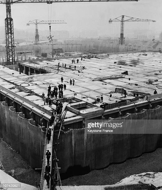 Porte Des Lilas Drinking Water Tank Under Built In Paris On June 1963