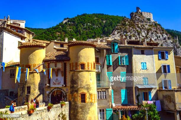 Porte Royale of the medieval village of Entrevaux, Department of Alpes-de-Haute-Provence, French Riviera, France