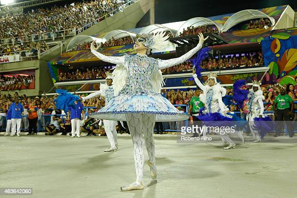 Portela attends the Carnival parade on the Sambodromo during Rio Carnival on February 16 2015 in Rio de Janeiro Brazil