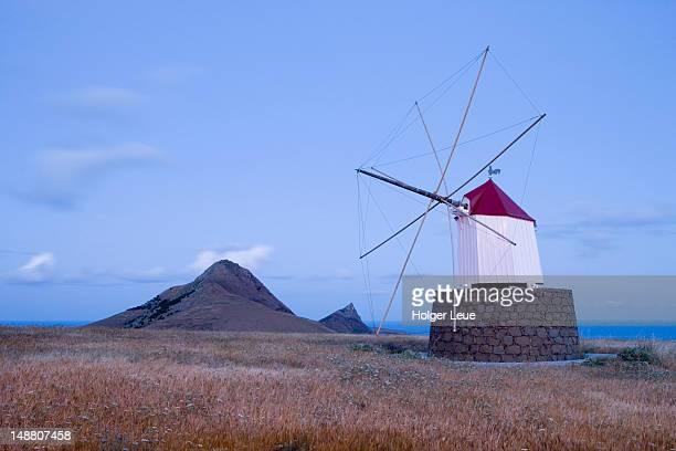 Portela windmills at dusk.