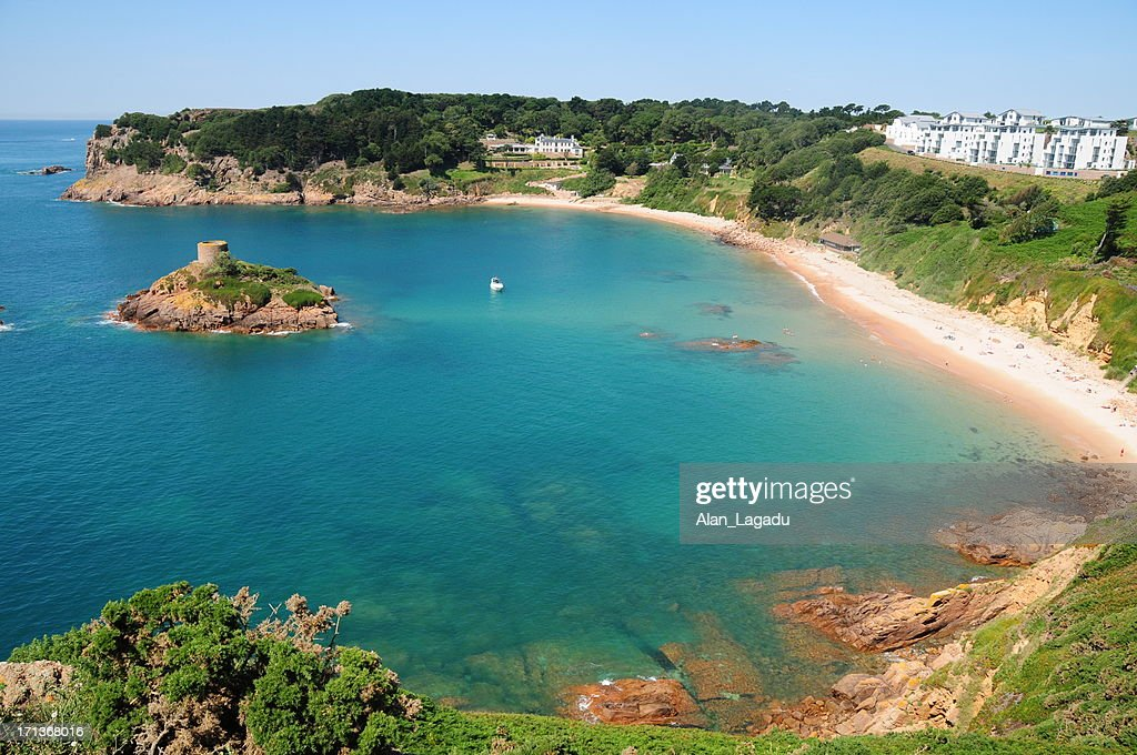 Portelet Bay, Jersey. : Stock Photo