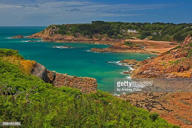 Portelet Beach and Janvrin's Tomb, Island of Jersey, United Kingdom