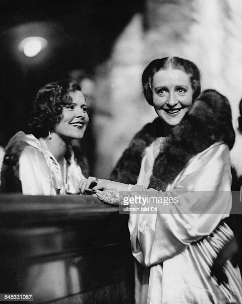 Porten Henny Actress Germany *07011890 with Austrian actress and singer Liane Haid at 'Berliner Presseball' Photographer Martin Munkacsi Vintage...
