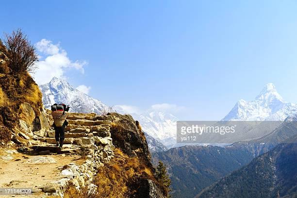 Porter & Mt. Everest,