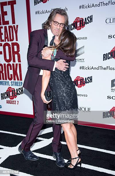 Porter Barbara and Rick Springfield arrives at the New York premiere of Ricki And The Flash at AMC Lincoln Square Theater on August 3 2015 in New...