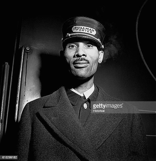 A porter on a Pullman car a railroad sleeping car Chicago Illinois ca JanuaryFebruary 1943