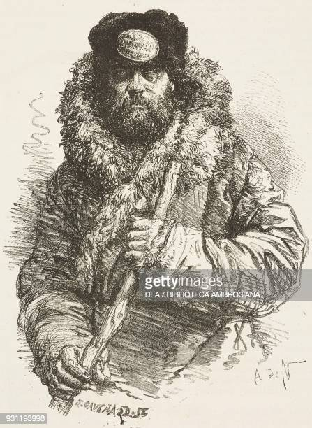 Porter with bearskin drawing by Alphonse de Neuville from Free Russia by William Hepworth Dixon from Il Giro del mondo Journal of geography travel...