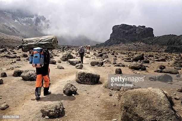 Porters near Lava Tower, Kilimanjaro National Park