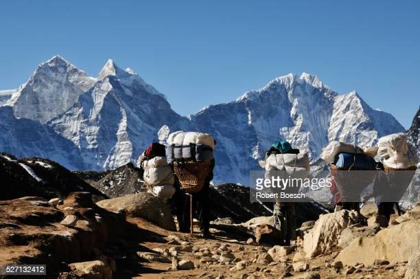 Porters on Everest Trek