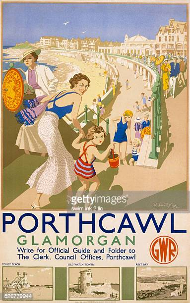 Porthcawl Glamorgan Poster by Michael Reilly