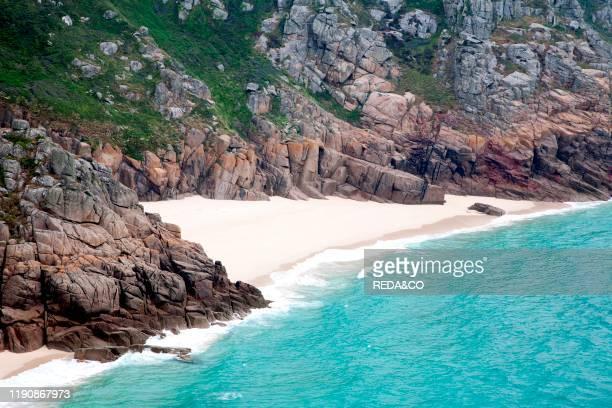 Porthcurno Beach Cornwall England Great Britain