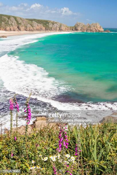 porthcurno beach - minack theatre stock pictures, royalty-free photos & images