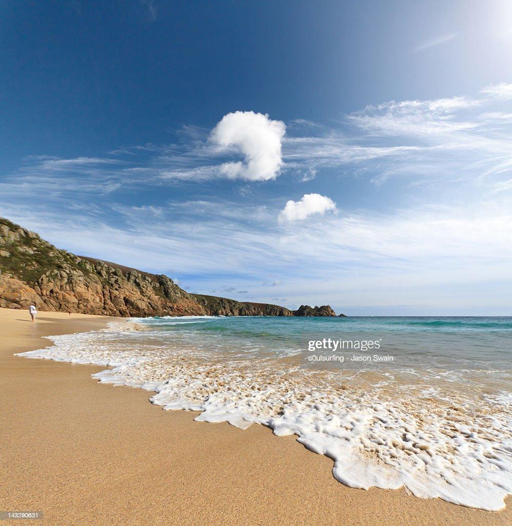 Porthcurno beach : Stock Photo