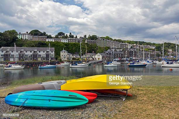 porthmadog harbour north wales - gwynedd stock photos and pictures