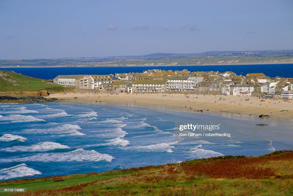 Porthmeor beach, St Ives, Cornwall, England, UK : Foto de stock