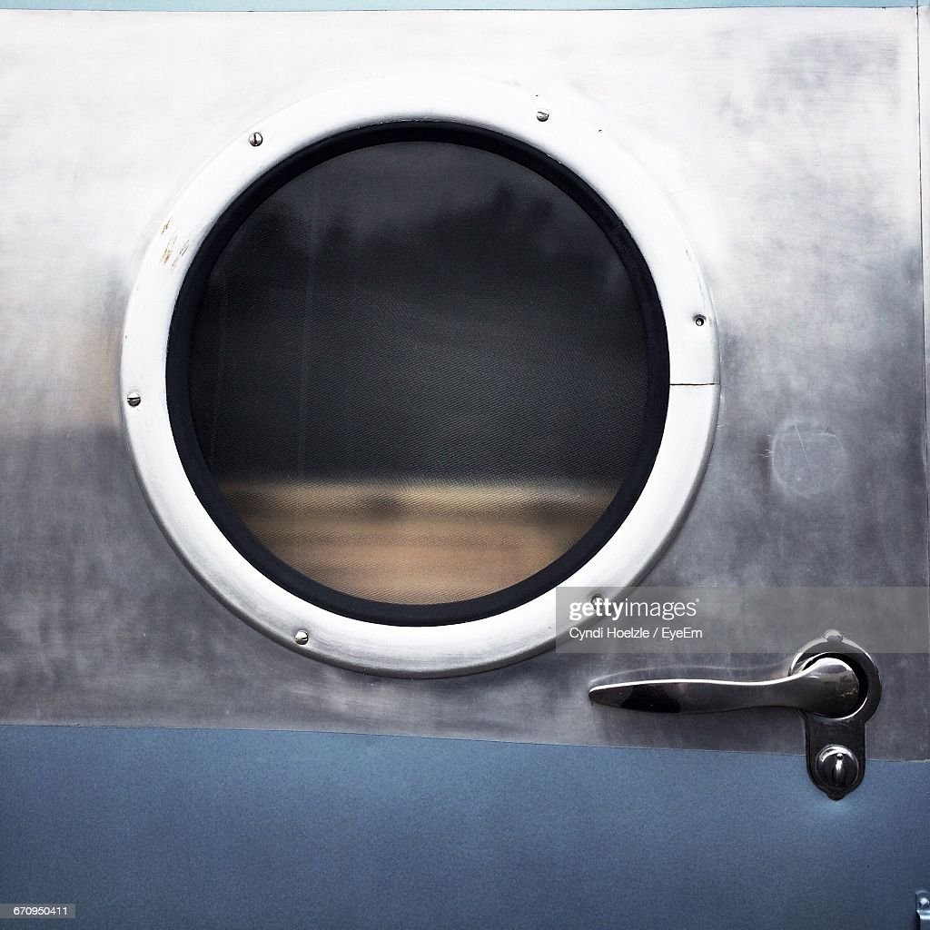 Porthole On Trailer Door & Porthole Window For Door Stock Photos and Pictures   Getty Images