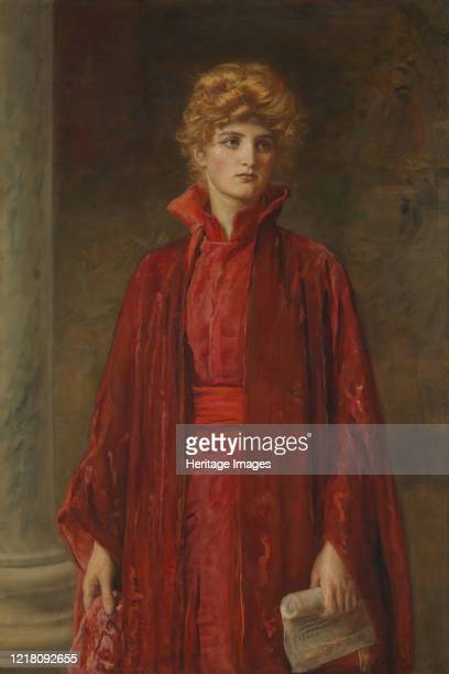 Portia 1886 Actress Ellen Terry in one of her most famous roles Portia in Shakespeare's The Merchant of Venice Artist John Everett Millais