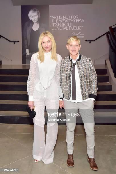 Portia de Rossi and Ellen DeGeneres attend GENERAL PUBLIC x RH Celebration at Restoration Hardware on June 27, 2018 in Los Angeles, California.