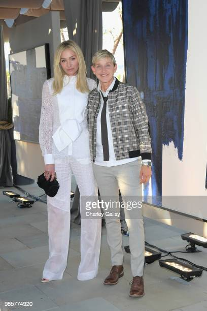 Portia de Rossi and Ellen DeGeneres attend GENERAL PUBLIC x RH Celebration at Restoration Hardware on June 27, 2018 in Los Angeles, California.