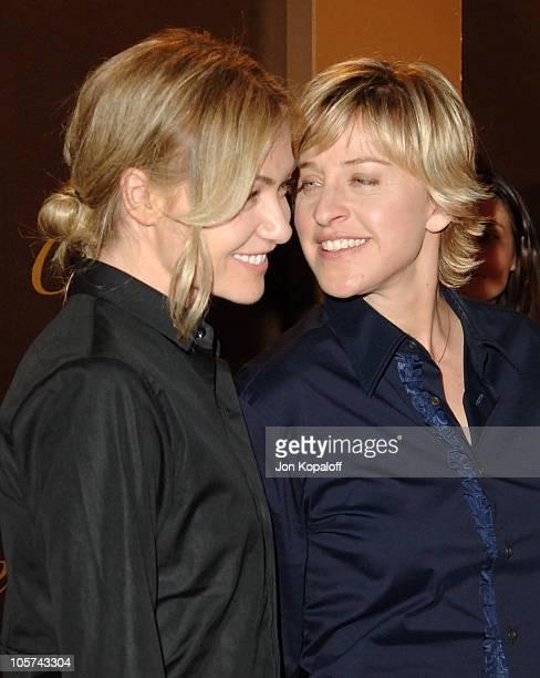 Portia de Rossi and Ellen DeGeneres during Cartier Celebrates 25 Years in Beverly Hills in Honor of Project ALS at Cartier Store in Beverly Hills...