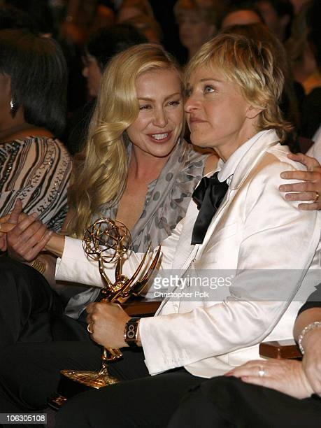 Portia de Rossi and Ellen DeGeneres winner Outstanding Talk Show Host and Outstanding Talk Show