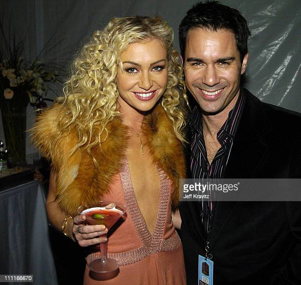 Portia de Rossi and Eric McCormack during VH1 Big in '04 Backstage and Audience at Shrine Auditorium in Los Angeles California United States