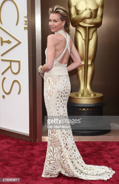 Portia de Rossi arrives at the 86th Annual Academy Awards at Hollywood Highland Center on March 2 2014 in Los Angeles California