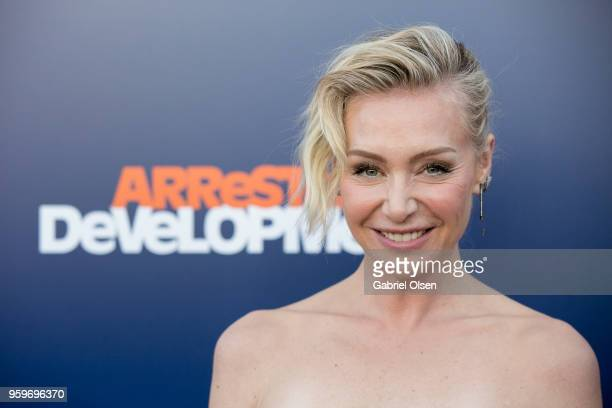 Portia de Rossi arrives for the premiere of Netflix's Arrested Development Season 5 at Netflix FYSee Theater on May 17 2018 in Los Angeles California