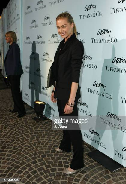 Portia de Rossi during Tiffany Co Celebrates the Launch of Frank Gehry's Premiere Collection on Rodeo Drive Red Carpet at Tiffany Co Store in Beverly...