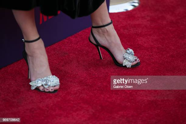 Portia de Rossi shoe detail arrives for the premiere of Netflix's Arrested Development Season 5 at Netflix FYSee Theater on May 17 2018 in Los...