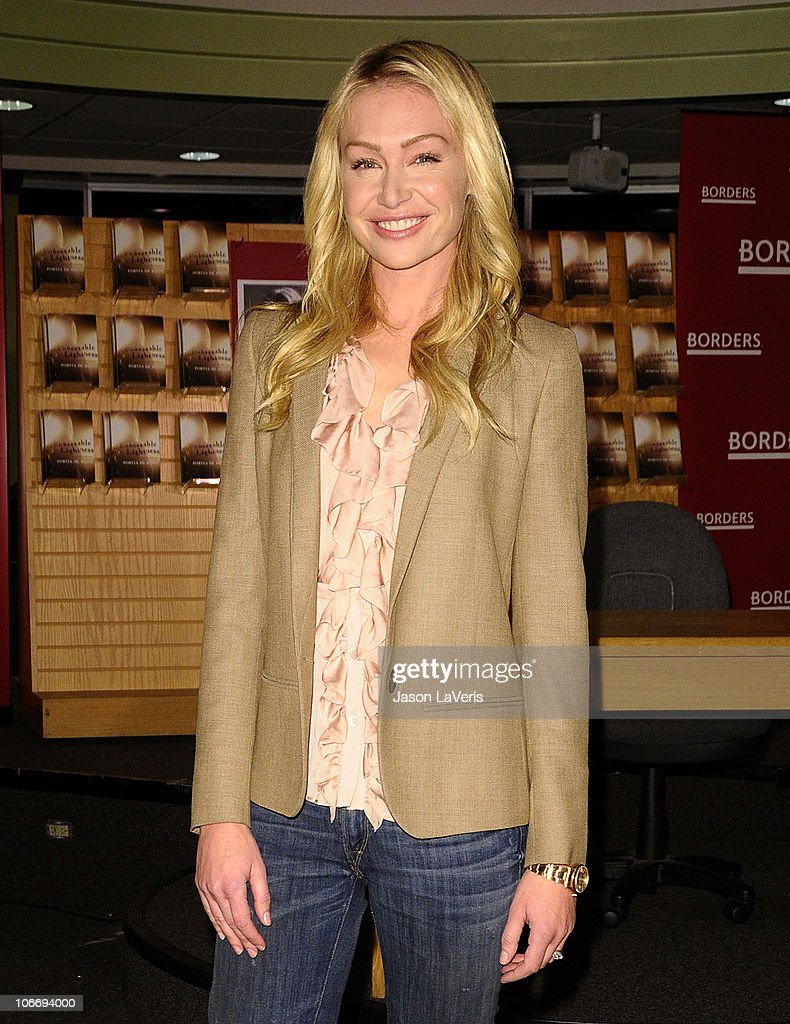 Portia De Rossi Signs Copies Of Her New Book U0027Unbearable Lightnessu0027 At  Borders Books