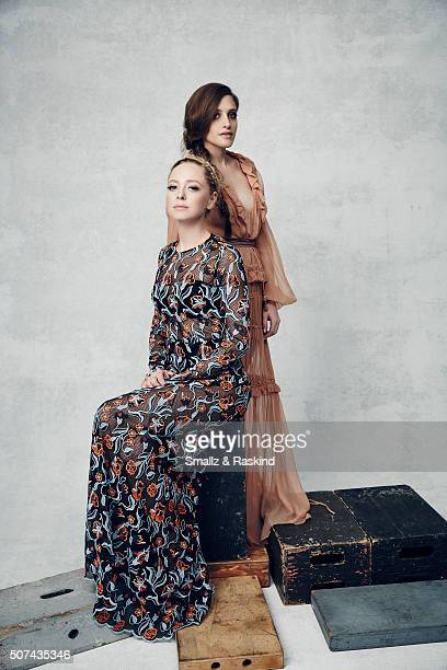 Portia Doubleday and Carly Chaikin pose for a portrait during the 21st Annual Critics' Choice Awards at Barker Hangar on January 17, 2016 in Santa...
