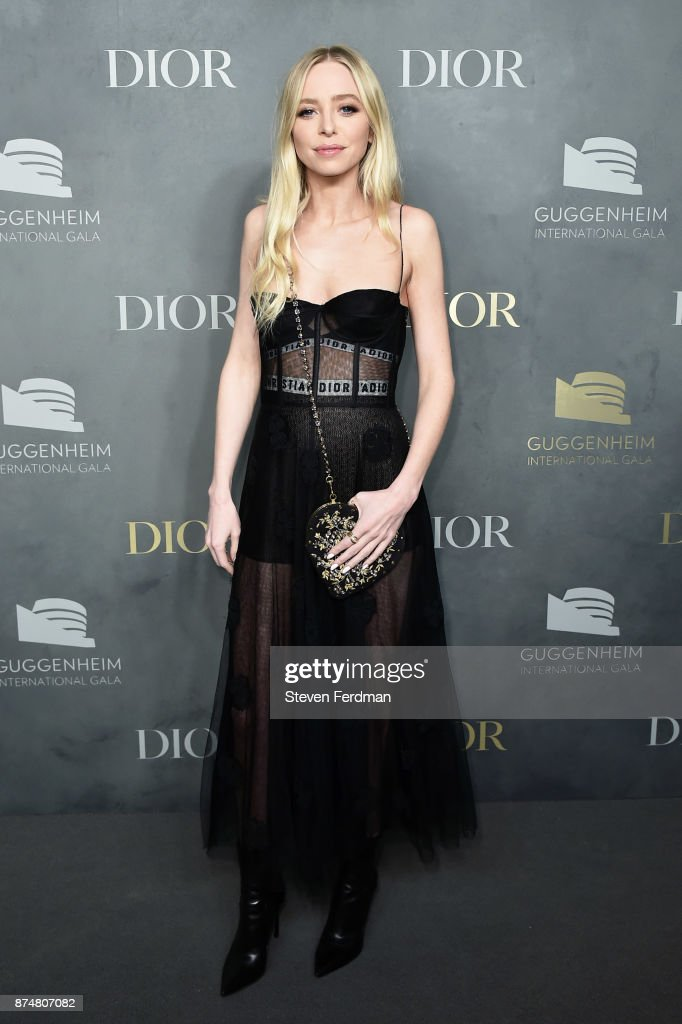 Portia Doubleday attends the 2017 Guggenheim International Gala Pre-Party made possible by Dior on November 15, 2017 in New York City.