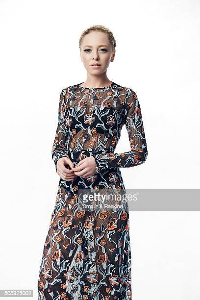 Portia Doubleday poses for a portrait during the 21st Annual Critics' Choice Awards at Barker Hangar on January 17 2016 in Santa Monica California