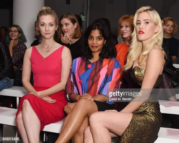 Portia Freeman Amara Karan and Betsy attend the Emilio De La Morena SS18 Catwalk Show at BFC Show Space on September 19 2017 in London England