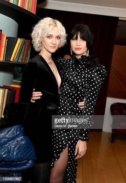 Portia Freeman and Daisy Lowe attend the launch of popup restaurant The Nitery by Gizzi Erskine at St Martins Lane on February 12 2020 in London...