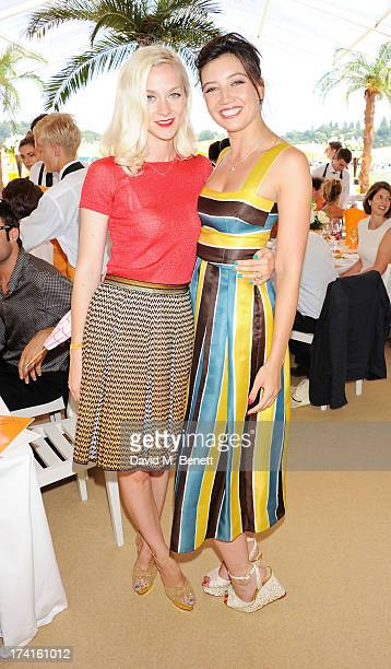 Portia Freeman and Daisy Lowe attend the Veuve Clicquot Gold Cup Final at Cowdray Park Polo Club on July 21 2013 in Midhurst England