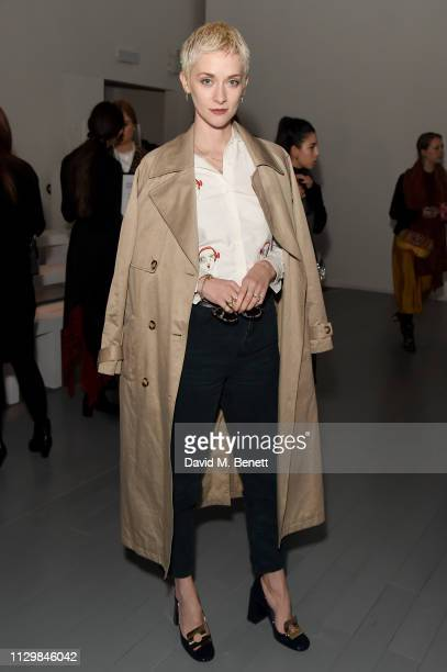 Portia Freeman attends the Bora Aksu show during London Fashion Week February 2019 at BFC Show Space on February 15, 2019 in London, England.