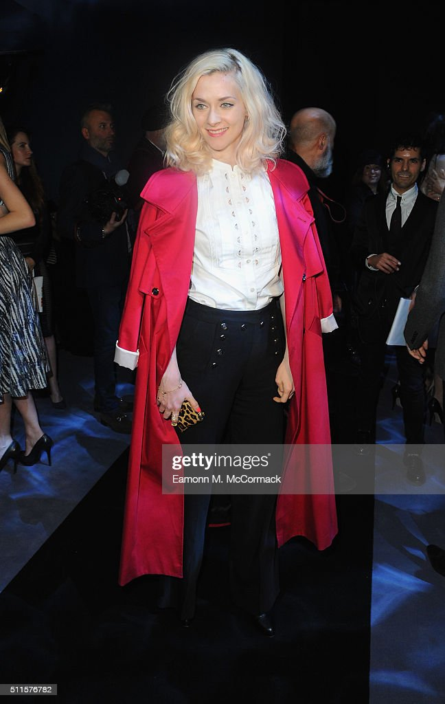 Portia Freeman attends the Temperley show during London Fashion Week Autumn/Winter 2016/17 on February 21, 2016 in London, England.