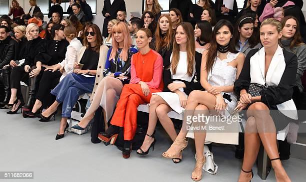 Portia Freeman Daisy Lowe Laura HaddockYasmin Le Bon Amber Le Bon Tiphaine De Lussy Alicia Rountree Diona Ciobanu and Tash Oakley attend the Antonio...