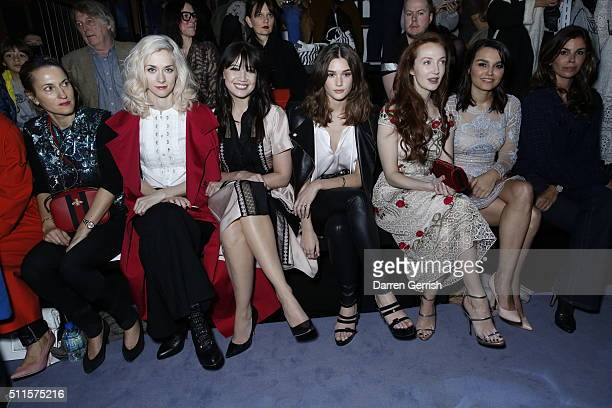 Portia Freeman Daisy Lowe Nicola Roberts and Samantha Barks attend the Temperley London LFW AW16 runway show at The Lindley Hall on February 21 2016...