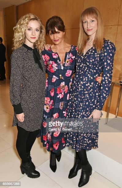 Portia Freeman Helena Christensen and Jade Parfitt attend the Debenhams Summer 17 Salon Show with global supermodel Helena Christensen and Emma...