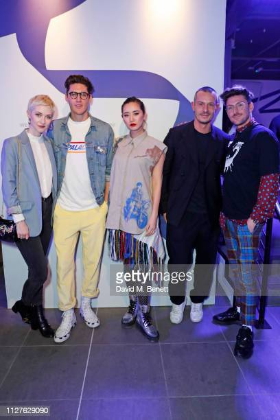 Portia Freeman Isaac Carew Betty Bachz Jonathan Saunders and Henry Holland attend the launch of The House Of Peroni on February 26 2019 in London...
