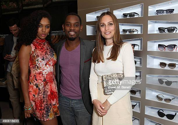 Portia Freno Aml Ameen and Anna Laub at the Prism Boutique Summer Party on Chiltern Street on May 14 2014 in London England