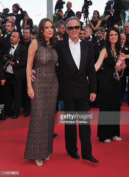 Portia Rebecca Crockett and actor Peter Fonda attend The Beaver Premiere during the 64th Cannes Film Festival at the Palais des Festivals on May 17...